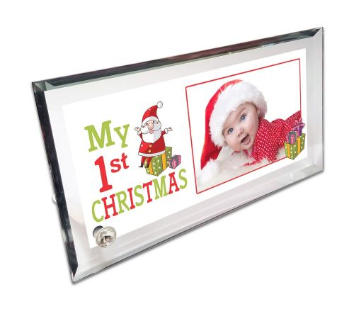 Personalised My 1st Christmas Crystal Photo Frame